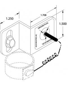 Wrist Strap Plug Receptable Bracket