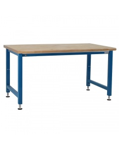 Kennedy Series Electric Hydraulic Lift, 1-3/4 Thick Oiled 100% Solid Maple Hardwood Top, Round Front Edge