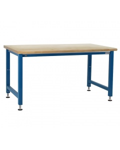 """Kennedy Series Electric Hydraulic Lift with 1-3/4"""" Thick Lacquered 100% Solid Maple Hardwood Top Round Edge 12 Stroke"""