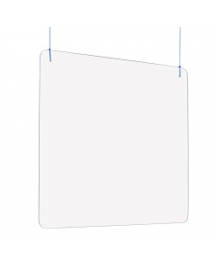 """Hanging Sneeze Guard / Shield - 3/16"""" Thick Acrylic"""