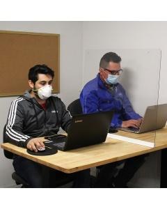 Sliding Sneeze-Guard Clear Acrylic