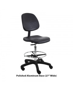 "Eisenhower Urethane Tall with Footring Chairs 10"" Stroke"