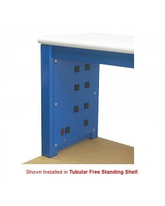 8 Plugs Free Standing Shelf Power Panels with Lighted Switch