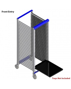 """Tray Carts, Welded 12"""" D x 18"""" W x 38"""" H, 15 Slots"""
