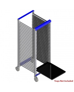"""Tray Carts, Welded 20"""" D x 26"""" W x 47"""" H, 20 Slots, Front Entry"""
