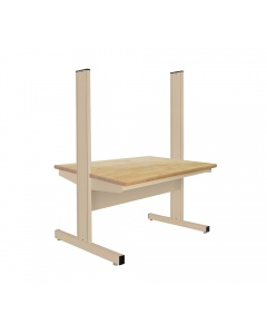 """Grant Series - Back to Back - 1-3/4"""" Thick Urethane Protective Coating 100% Solid Maple Hardwood Top - Rnd Front Edge"""