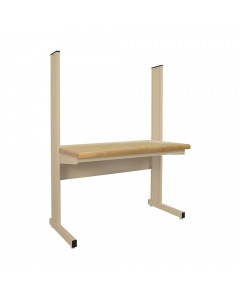"""Grant Series with 1-3/4"""" Thick Urethane Protective Coating 100% Solid Maple Hardwood Top - Rnd Front Edge"""