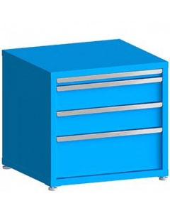 """100# Capacity Drawer Cabinet, 2"""",6"""",6"""",10"""" Drawers, 28"""" H x 30"""" W x 28"""" D"""