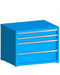 """100# Capacity Drawer Cabinet, 4"""",4"""",8"""",8"""" Drawers, 28"""" H x 36"""" W x 21"""" D"""