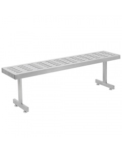 Perforated Slotted Pattern Stainless Steel Gowning Benches-Recessed Legs