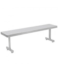 Perforated Round Pattern Stainless Steel Gowning Benches-Recessed Legs
