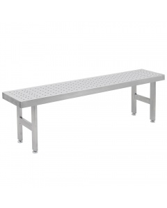 Perforated Round Pattern Stainless Steel Gowning Benches-4 Legs