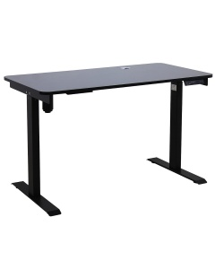 Johnson Series Electro-Mechanical Lift Table with Black Laminate Top and Black Frame