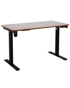 Johnson Series Electro-Mechanical Lift Table with Cherry Laminate Top and Black Frame