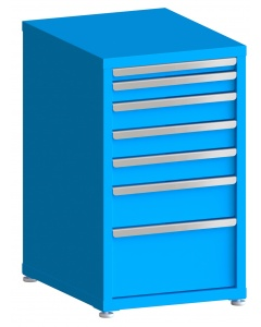 "100# Capacity Drawer Cabinet, 2"",3"",4"",4"",4"",6"",10"" drawers, 37"" H x 22"" W x 28"" D"