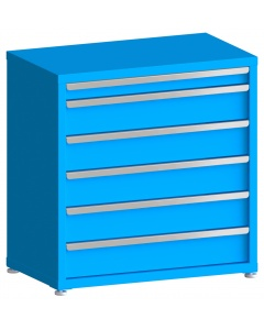 """200# Capacity Drawer Cabinet, 3"""",6"""",6"""",6"""",6"""",6"""" drawers, 37"""" H x 36"""" W x 21"""" D"""