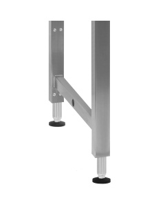 """Kennedy Series, Manual Hydraulic Lift 16"""" Stroke with Stainless Steel Frame and Phenolic Resin 1"""" Thick Top - Round Front Edge."""