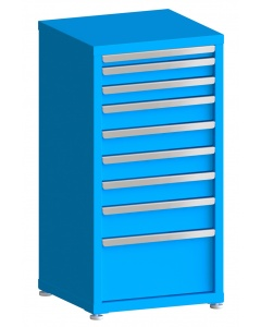 "100# Capacity Drawer Cabinet, 2"",3"",3"",4"",4"",4"",4"",5"",10"" drawers, 43"" H x 22"" W x 21"" D"