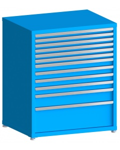 "100# Capacity Drawer Cabinet, 2"",2"",2"",2"",2"",2"",3"",3"",3"",3"",5"",10"" drawers, 43"" H x 36"" W x 28"" D"