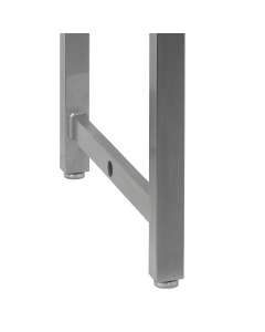 """Kennedy Series, Stainless Steel Frame with 1"""" Thick Phenolic Resin Top - Round Front Edge."""