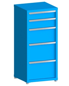 """200# Capacity Drawer Cabinet, 5"""",6"""",10"""",12"""",12"""" drawers, 49"""" H x 22"""" W x 21"""" D"""