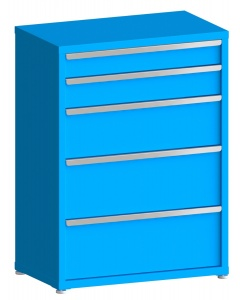 """200# Capacity Drawer Cabinet, 5"""",6"""",10"""",12"""",12"""" drawers, 49"""" H x 36"""" W x 21"""" D"""