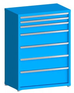 """200# Capacity Drawer Cabinet, 3"""",3"""",5"""",8"""",8"""",8"""",10"""" drawers, 49"""" H x 36"""" W x 21"""" D"""