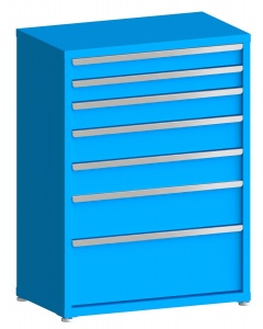 "100# Capacity Drawer Cabinet, 4"",4"",5"",6"",6"",8"",12"" drawers, 49"" H x 36"" W x 21"" D"
