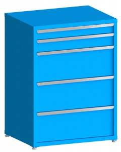 "100# Capacity Drawer Cabinet, 4"",5"",12"",12"",12"" drawers, 49"" H x 36"" W x 28"" D"