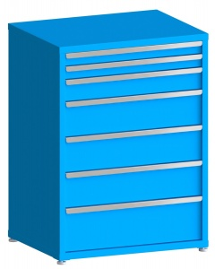 "100# Capacity Drawer Cabinet, 3"",3"",5"",8"",8"",8"",10"" drawers, 49"" H x 36"" W x 28"" D"