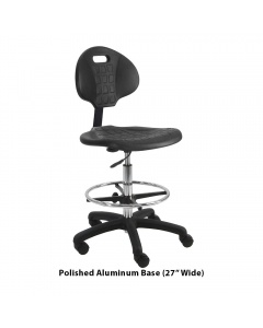 """Urethane Tall Chairs with Footring 10"""" Stroke"""
