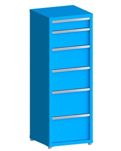 """200# Capacity Drawer Cabinet, 5"""",8"""",10"""",10"""",12"""",12"""" drawers, 61"""" H x 22"""" W x 21"""" D"""