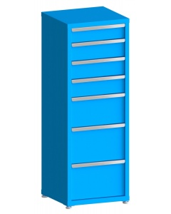 """200# Capacity Drawer Cabinet, 5"""",6"""",6"""",6"""",10"""",12"""",12"""" drawers, 61"""" H x 22"""" W x 21"""" D"""