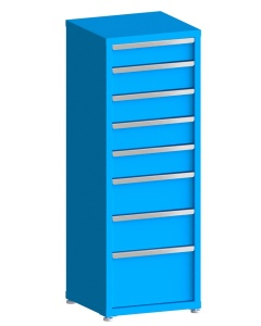 """200# Capacity Drawer Cabinet, 5"""",6"""",6"""",6"""",6"""",8"""",8"""",12"""" drawers, 61"""" H x 22"""" W x 21"""" D"""