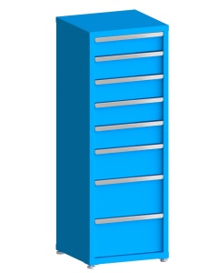 """200# Capacity Drawer Cabinet, 5"""",6"""",6"""",6"""",6"""",8"""",10"""",10"""" drawers, 61"""" H x 22"""" W x 21"""" D"""