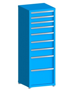 """200# Capacity Drawer Cabinet, 4"""",4"""",4"""",5"""",6"""",6"""",6"""",10"""",12"""" drawers, 61"""" H x 22"""" W x 21"""" D"""