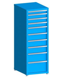 "100# Capacity Drawer Cabinet, 3"",4"",4"",4"",6"",6"",6"",6"",8"",10"" drawers, 61"" H x 22"" W x 28"" D"