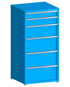 """200# Capacity Drawer Cabinet, 5"""",6"""",10"""",12"""",12"""",12"""" drawers, 61"""" H x 30"""" W x 28"""" D"""