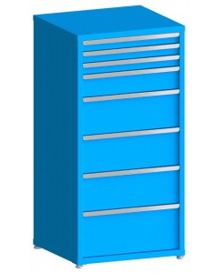 "100# Capacity Drawer Cabinet, 3"",3"",3"",6"",10"",10"",10"",12"" drawers, 61"" H x 30"" W x 28"" D"
