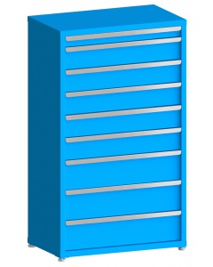 "100# Capacity Drawer Cabinet, 3"",6"",6"",6"",6"",6"",8"",8"",8"" drawers, 61"" H x 36"" W x 21"" D"
