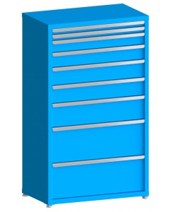 "100# Capacity Drawer Cabinet, 2"",2"",4"",5"",6"",6"",8"",12"",12"" drawers, 61"" H x 36"" W x 21"" D"