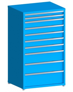 """200# Capacity Drawer Cabinet, 3"""",3"""",5"""",5"""",5"""",5"""",5"""",8"""",8"""",10"""" drawers, 61"""" H x 36"""" W x 28"""" D"""