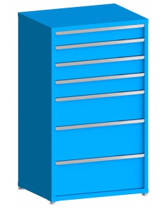 "100# Capacity Drawer Cabinet, 5"",6"",6"",6"",10"",12"",12"" drawers, 61"" H x 36"" W x 28"" D"