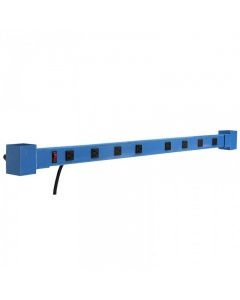 Adjustable Height Aluminum Plug Strip - 12 Outlets - 15-Amps