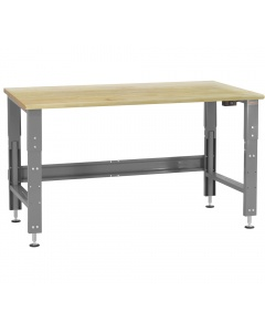 Roosevelt Series - Electric Hydraulic Lift, 1-3/4 Urethane Protective Coating Solid Maple Hardwood Top, Rnd Front Edge