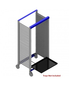 """Tray Carts, Welded 20"""" D x 26"""" W x 47"""" H, 20 Slots, Side Entry"""