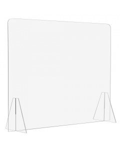 """Free Standing Acrylic Sneeze Guard / Shield - 3/16"""" Thick"""
