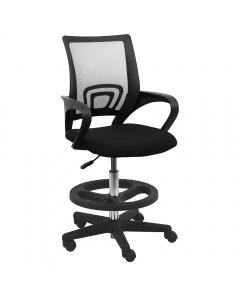 "Truman Fabric Tall Chair 10"" Stroke Nylon Footring"