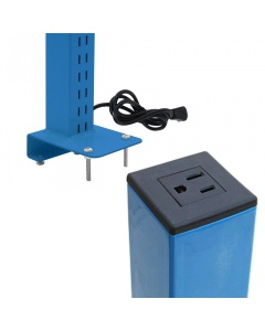 Single Sided Slotted Upright Set with Power Plug (Not Butcherblock)