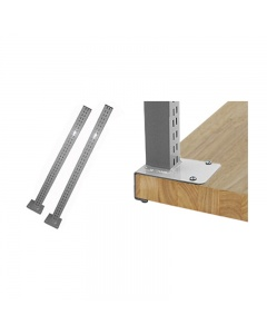 "Stainless Steel Uprights for 1.75"" thick top benches. (Butcherblock)"